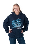 HB Oktoberfest Diamond Pattern Hooded Sweatshirt - Navy