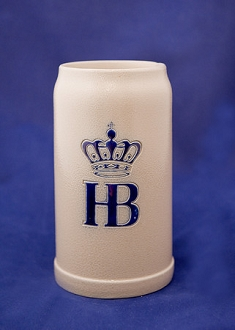HB Salt Glazed Ceramic Stein 1L