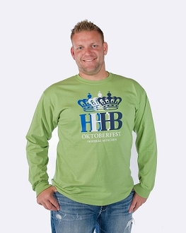 HB Oktoberfest Triple Crown Long Sleeve Shirt  - Lime Green