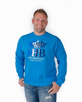 HB Oktoberfest Triple Crown Long Sleeve Shirt - Blue