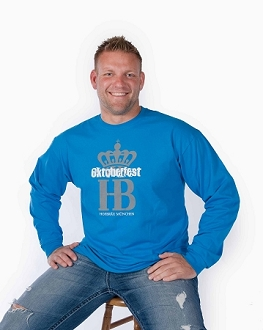HB Oktoberfest HB Crown Long Sleeve Shirt - Blue