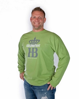 HB Oktoberfest HB Crown Long Sleeve Shirt  - Lime Green