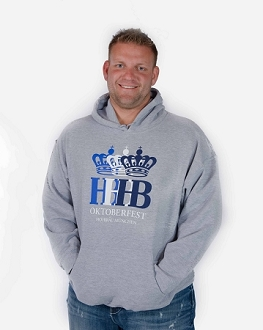 HB Oktoberfest Triple Crown Hooded Sweatshirt  - Gray