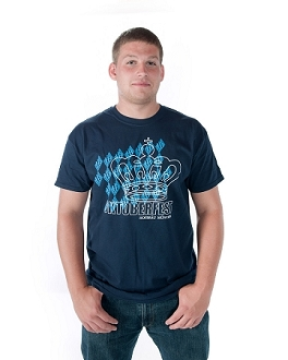 HB Oktoberfest Diamond Pattern T-Shirt - Navy