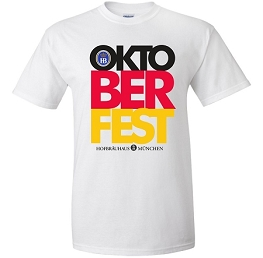HB Munich Oktoberfest Block Short Sleeve T-Shirt White
