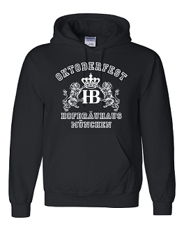 HB Munich Oktoberfest Lion Hooded Sweatshirt Black