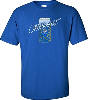HB Munich Oktoberfest Beer Mug Short Sleeve T-Shirt Royal Blue