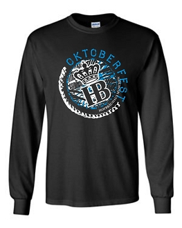 OKT 17 Men's Circle Black Long Sleeve T-Shirt