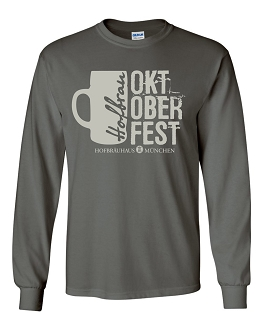 OKT 17 Men's Mug Charcoal Long Sleeve T-Shirt