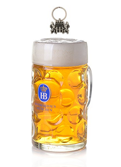 HB Glass Dimple Mug 1L with FREE Lion Keychain HBA-KR-SL