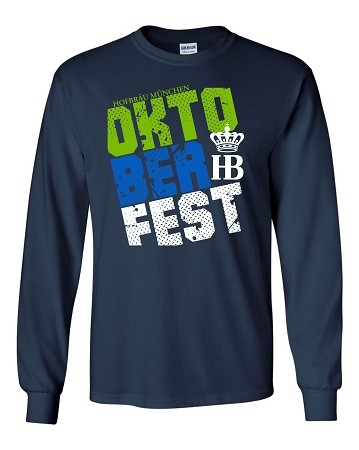 HB Multi-Color Long Sleeve T-Shirt  Navy