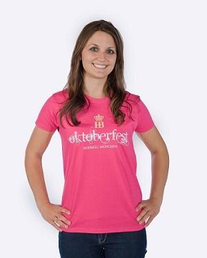 Oktoberfest Ladies T-Shirt - Hot Pink