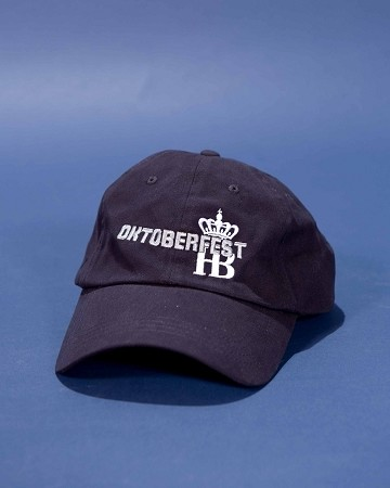 HB Oktoberfest Embroidered Cap - Right Side Navy