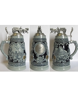 HB 425th Anniversary Limited Edition 1L Lidded Stein - Blue/Gray