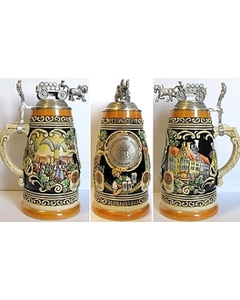 HB 425th Anniversary Limited Edition 1L Lidded Stein - Multi Color