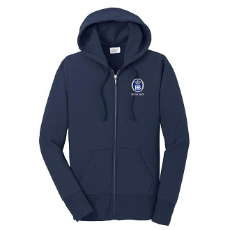 Port & Company® Ladies Core Fleece Full-Zip Hooded Sweatshirt - Navy