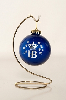 HB Glossy Finish Blue Ornament