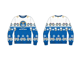 BEAUTIFUL UGLY SWEATER - WHITE/BLUE