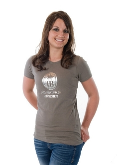 HB Ladies T Shirt Silver Foil HB - Gray