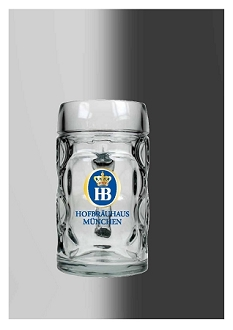 HB Glass Dimple Mug 0.5L
