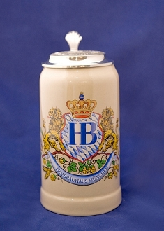 HB Lion Stein with Lid 1L