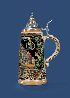 .5L Hofbrau Limited Edition Numbered Multi-Colored Decorative Lidded Stein