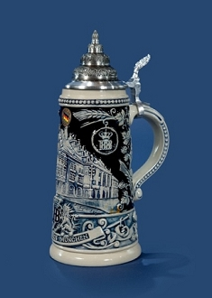 .5L Hofbrau Limited Edition Numbered Decorative Lidded Stein
