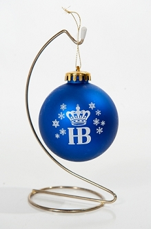 HB Satin Finish Blue Ornament