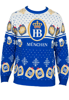BEAUTIFUL UGLY SWEATER - WHITE/BLUE - PRE-ORDER ONLY - NOT AVAILABLE UNTIL AFTER DEC 5th