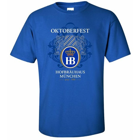 OKTOBERFEST 1589 T-SHIRT - ROYAL