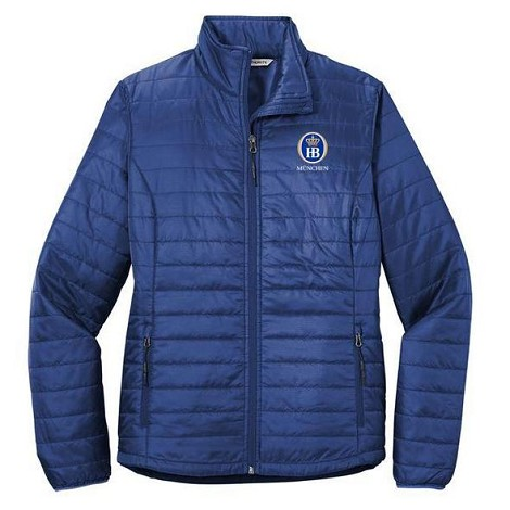 Port Authority® Ladies Packable Puffy Jacket - Cobalt Blue
