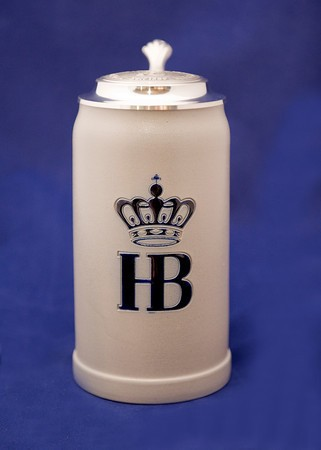 HB Salt Glazed Ceramic Stein with Lid 1L