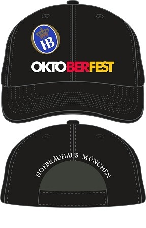 HBA Munich Oktoberfest Embroidered Cap - Black