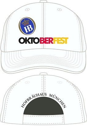 HB Munich Oktoberfest Embroidered Cap - White