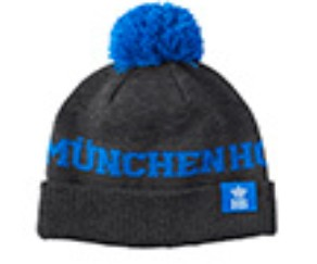 HB Bommel Knitted Hat Blue/ Dark Grey